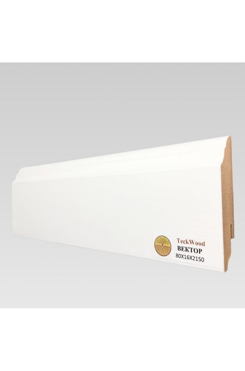 Плинтус напольный TECKWOOD белый Вектор (80х16)