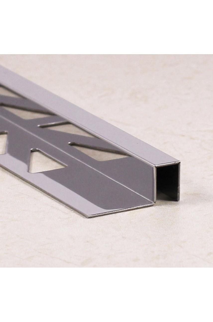 П-образный профиль из нержавеющей стали SB017 AISI 304 8мм Сатинированная(шлифованная)