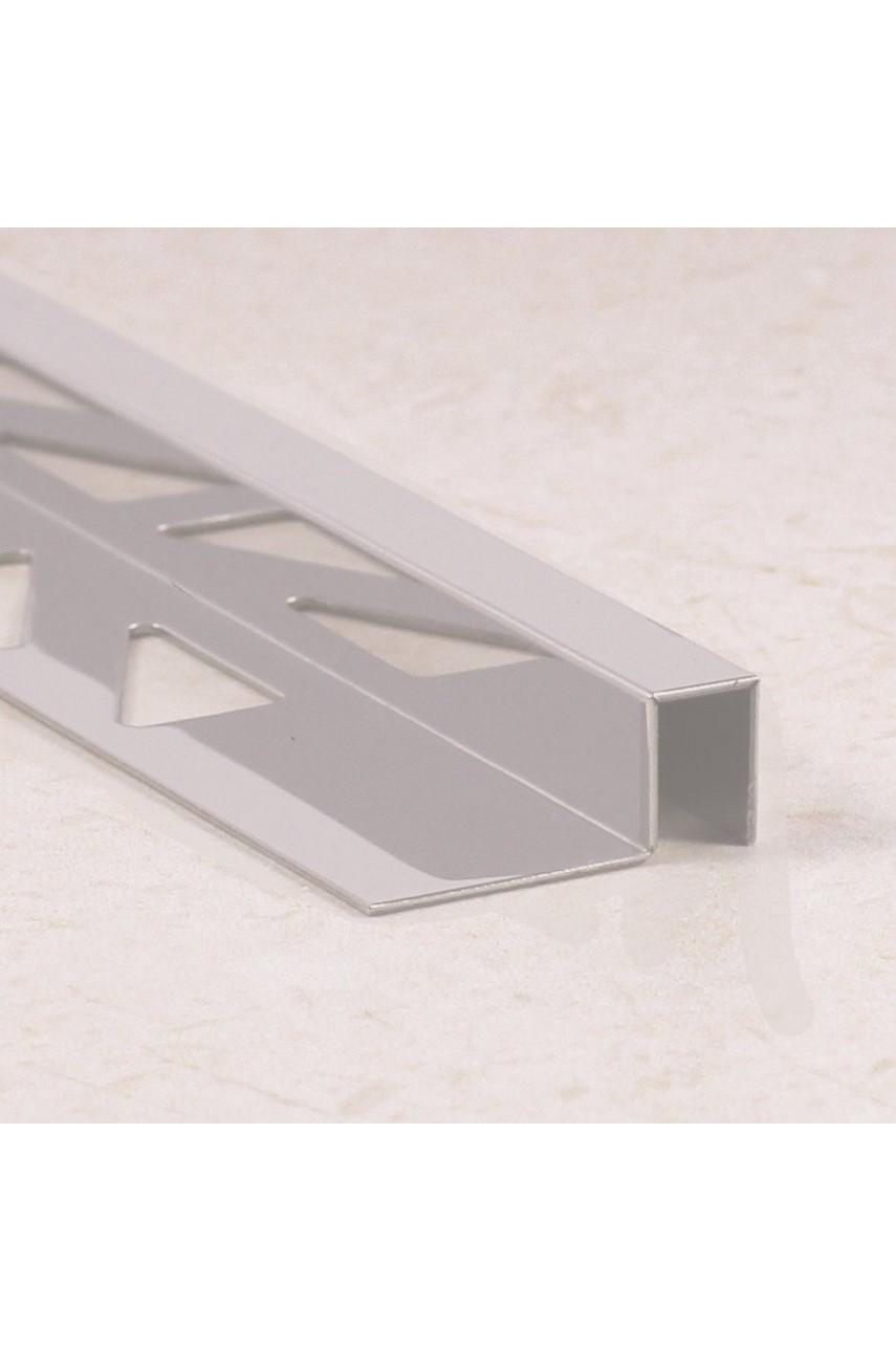 П-образный профиль из нержавеющей стали SB017 AISI 304 12мм Полированная