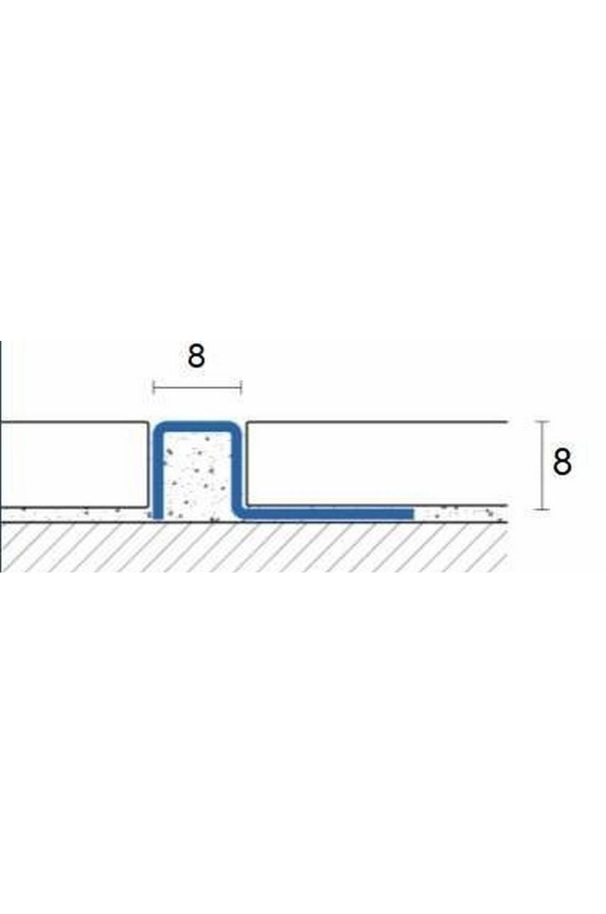 П-образный профиль из нержавеющей стали SB017 AISI 304 8мм Полированная