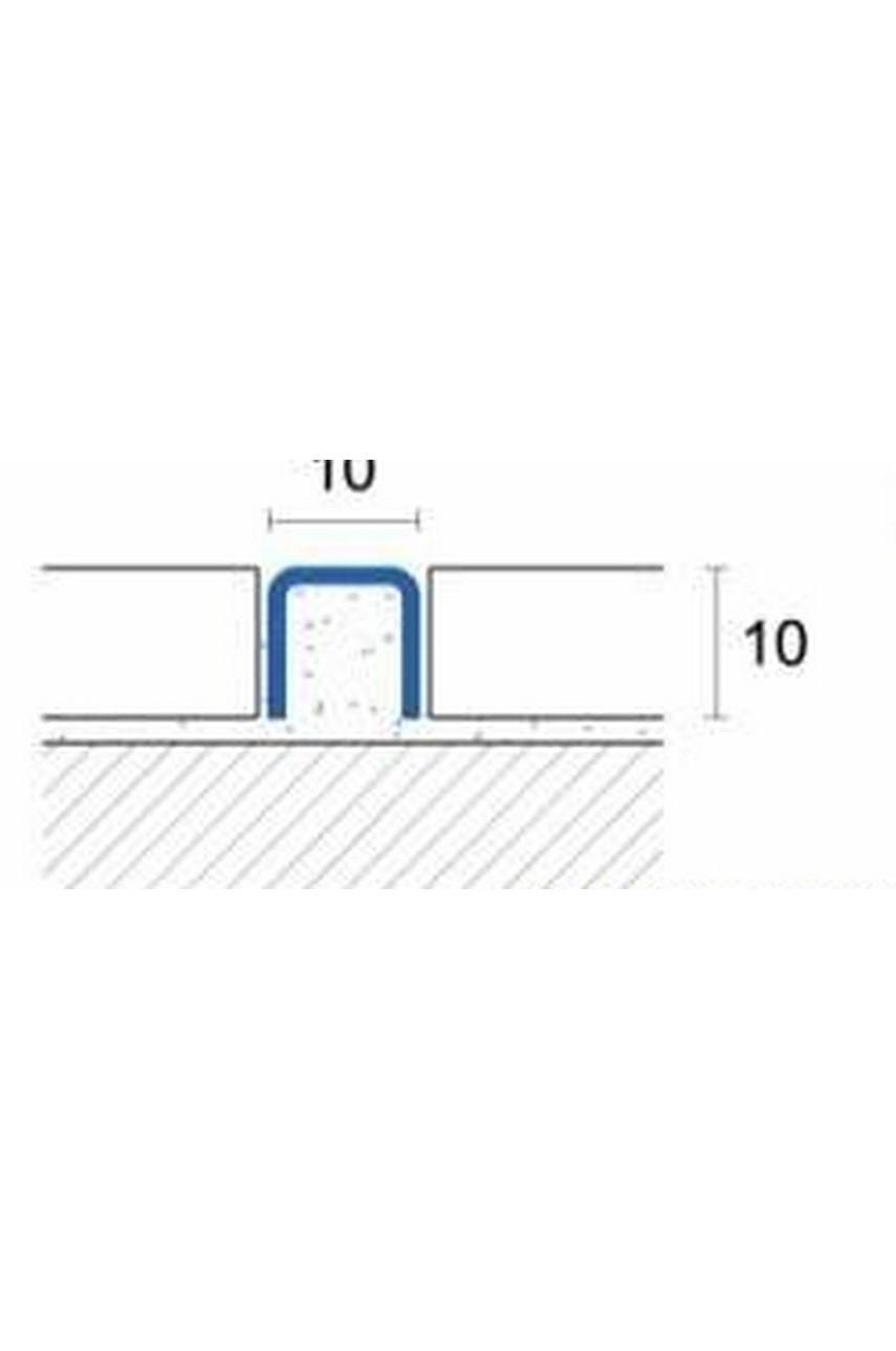 П образный разделительный бордюр из нержавеющей стали Сатинированная(шлифованная) 10мм SU105 AISI 304