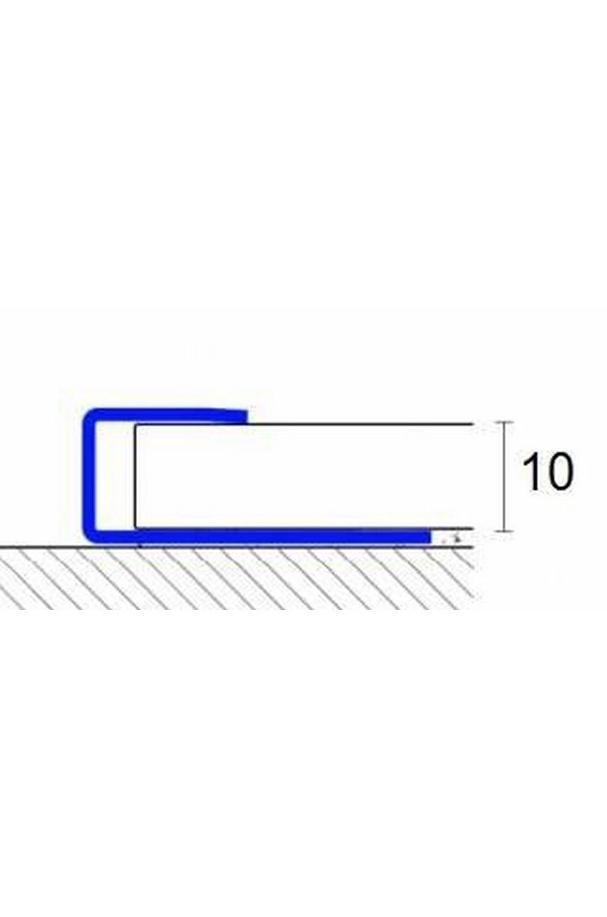С Образный профиль(окончание) из нержавеющей стали SB166-1B AISI 304 Полированная 10 мм