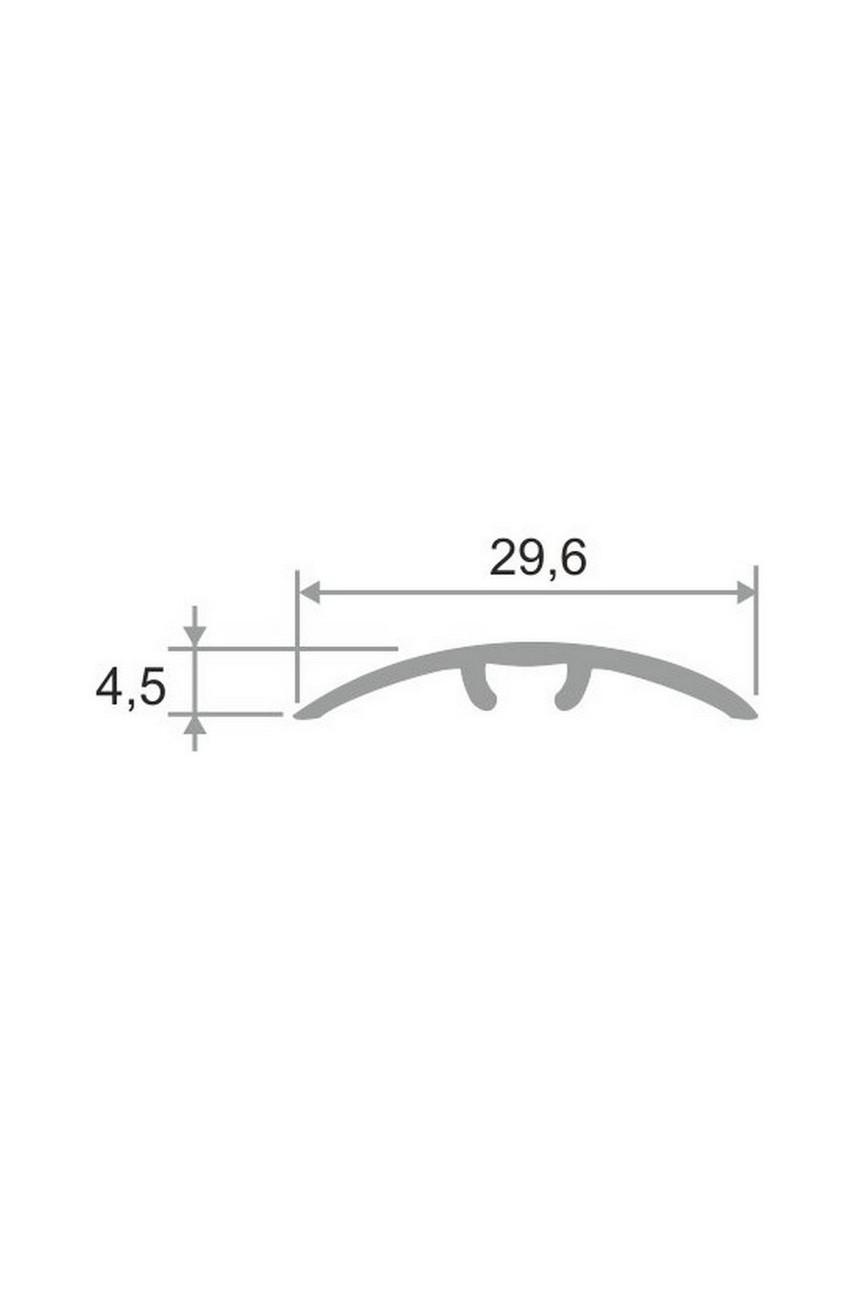 Алюминиевый порог гладкий со скрытым креплением ПО 31