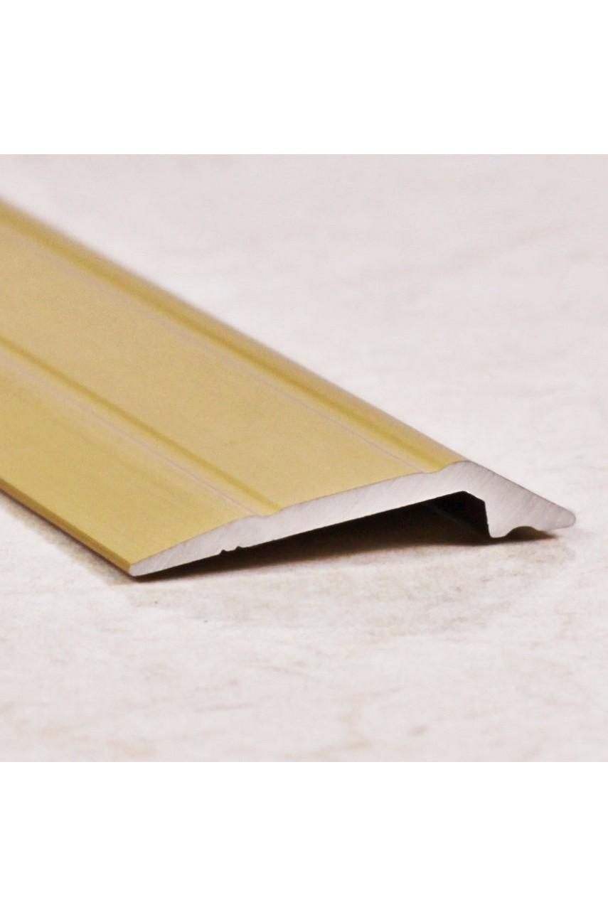 Алюминиевый порог с декоративными насечкеми, с отверстиями ПО 28х6