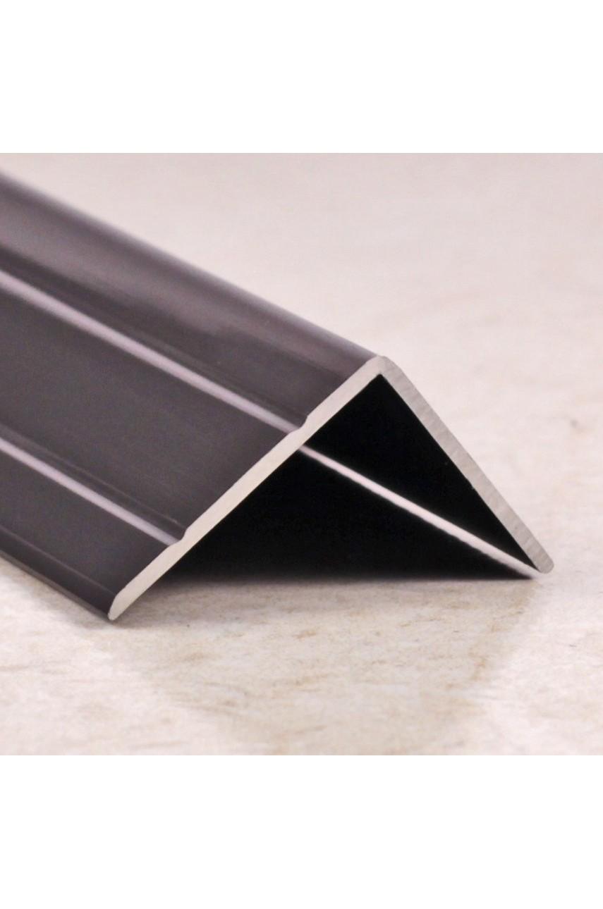 Алюминиевый угловой порог с декоративными насечками, с отверстиями ПО 24х20