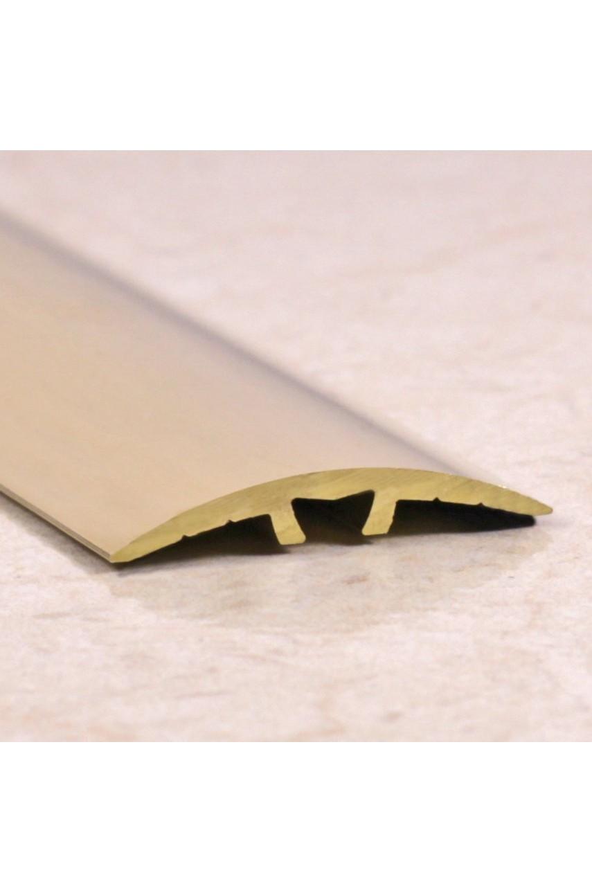 Латунный полированный порог гладкий со скрытым креплением ЛПО 31