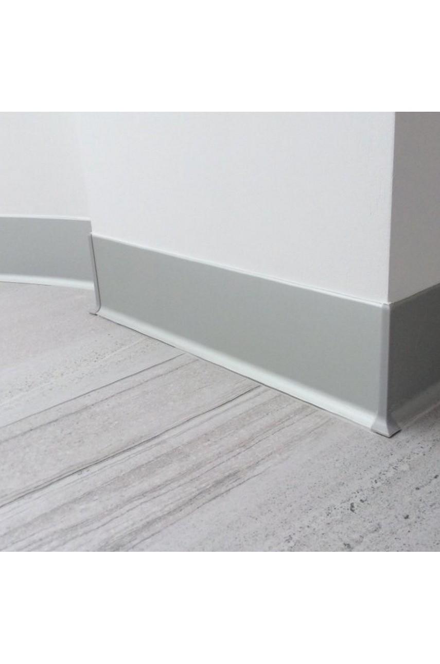 Алюминиевый(Анодированный) плинтус для пола 80мм ПЛ 3м