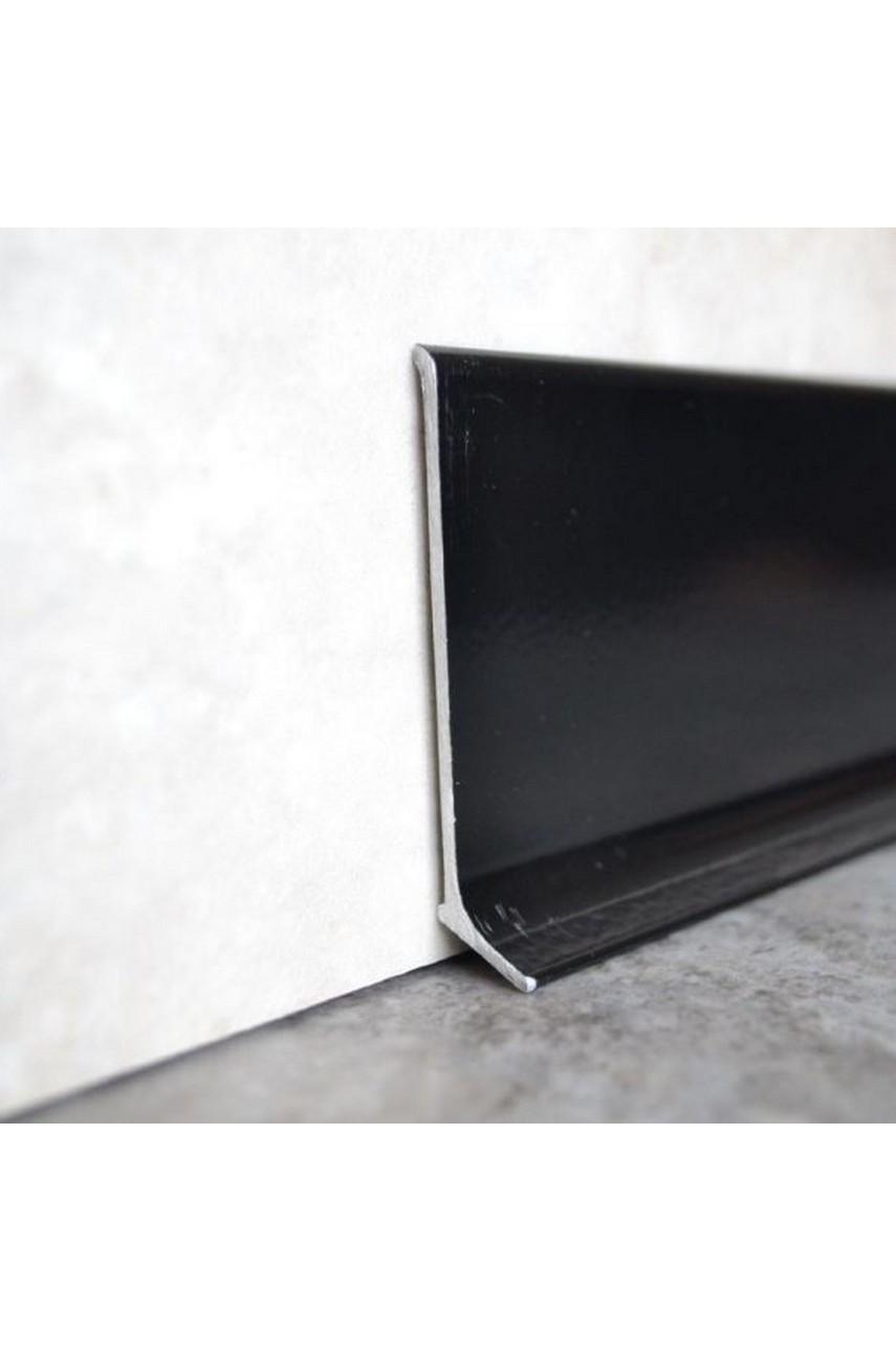Плинтус алюминиевый черный 40мм ПТ 40 3м.