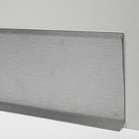 Плинтус для пола из нержавеющей стали 80мм Сатинированная(шлифованная) AISI 304 SY044