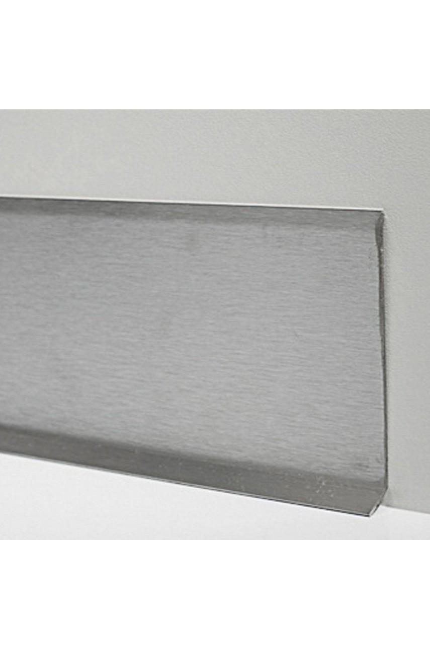 Плинтус для пола из нержавеющей стали 100мм Сатинированная(шлифованная) AISI 304 SY044