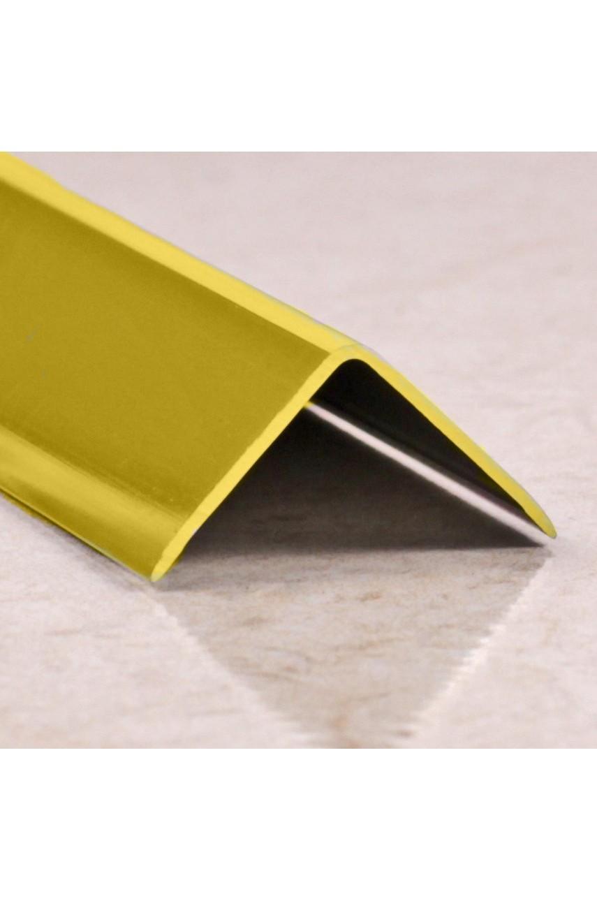 Анодированный алюминиевый уголок 20х20 Золото Глянец ПН20х20