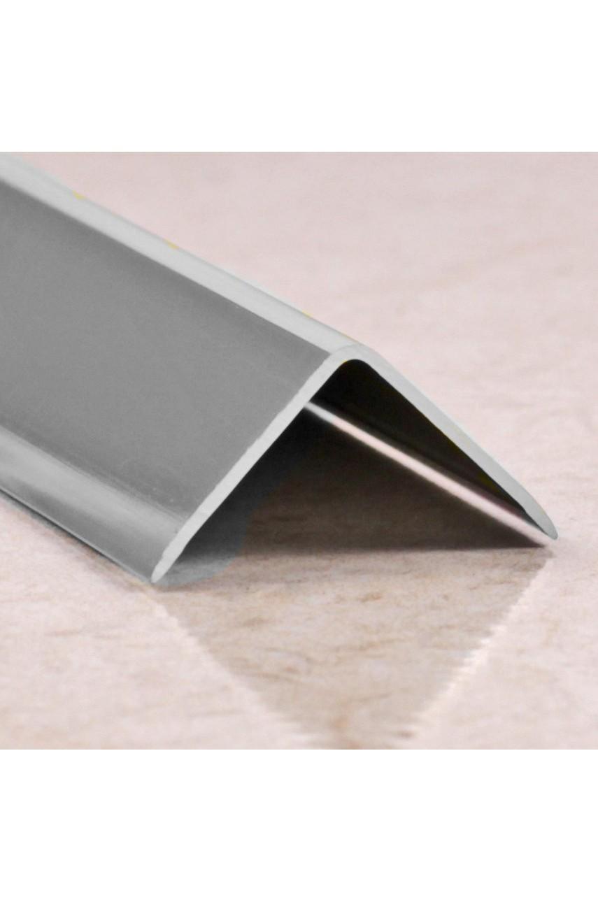 Анодированный алюминиевый уголок 30х30 Серебро Глянец ПН30х30