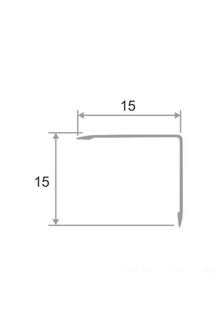 Анодированный алюминиевый уголок 15х15 Бронза Матовый ПН15х15
