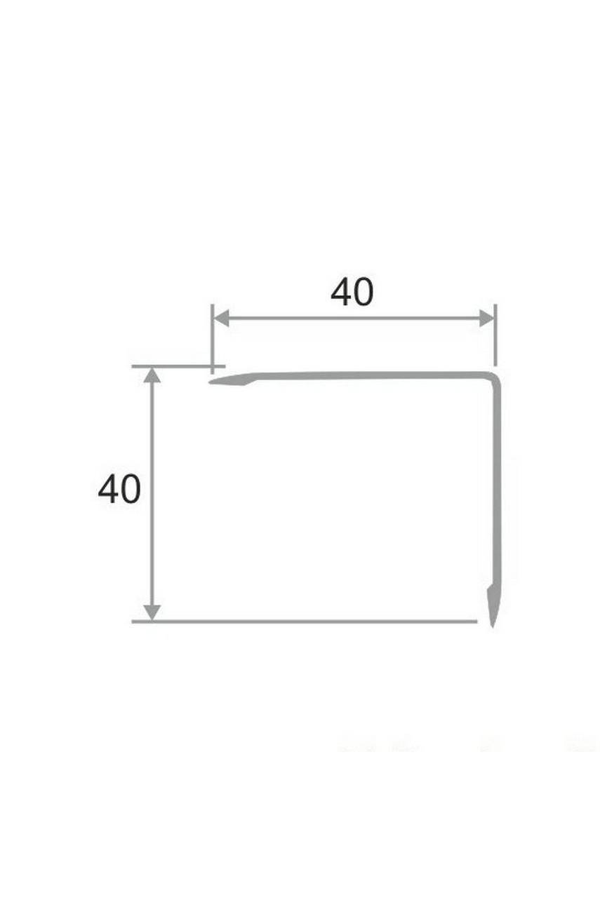 Анодированный алюминиевый уголок 40х40 Серебро Матовый ПН40х40