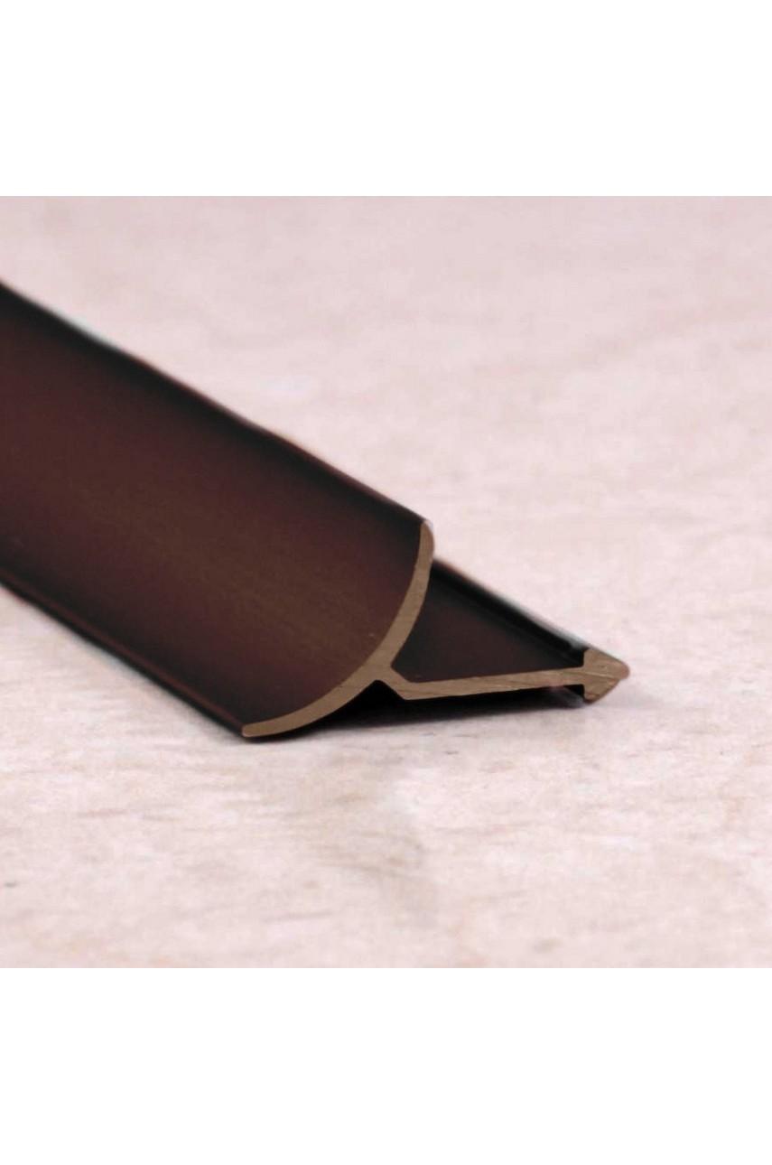 Алюминиевая универсальная раскладка для плитки внутренняя Бронза Глянец ПО В9