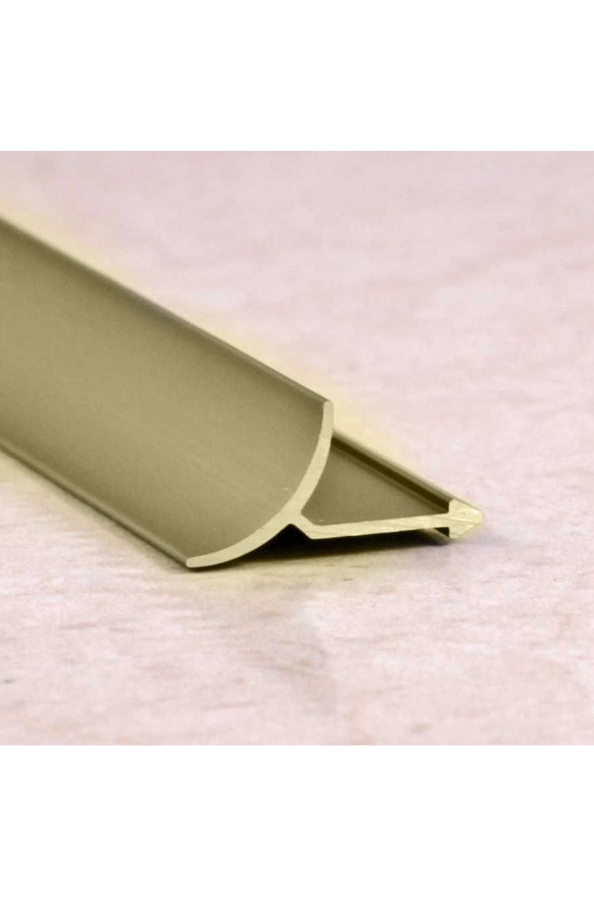 Алюминиевая универсальная раскладка для плитки внутренняя Бронза Матовый ПО В9