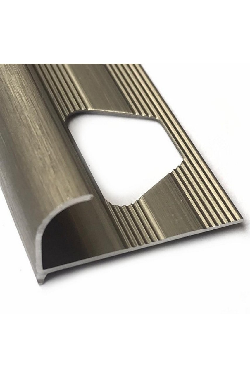 Алюминиевый Профиль(раскладка) для плитки 7,8мм Бронза Матовый ПО8
