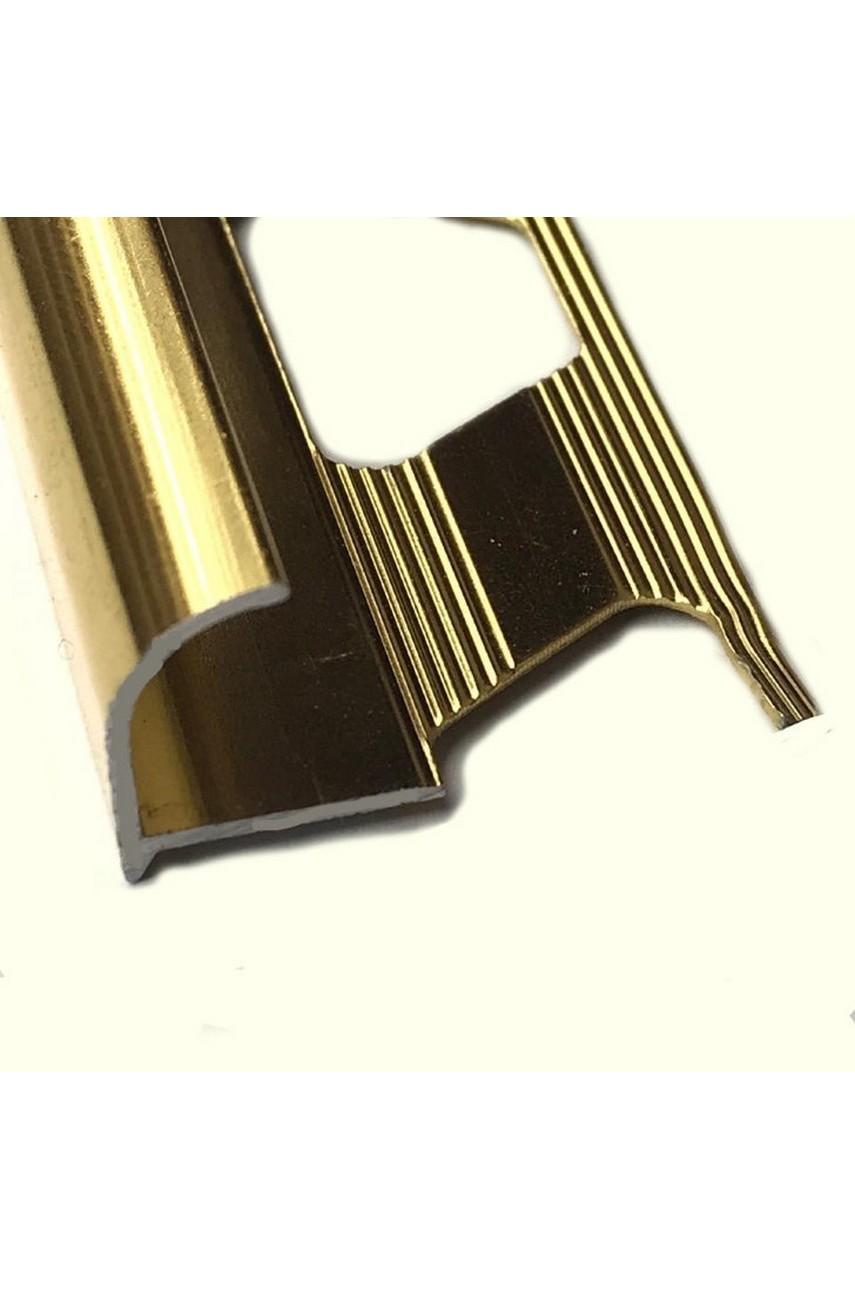 Алюминиевый Профиль(раскладка) для плитки 7,8мм Золото Глянец ПО8