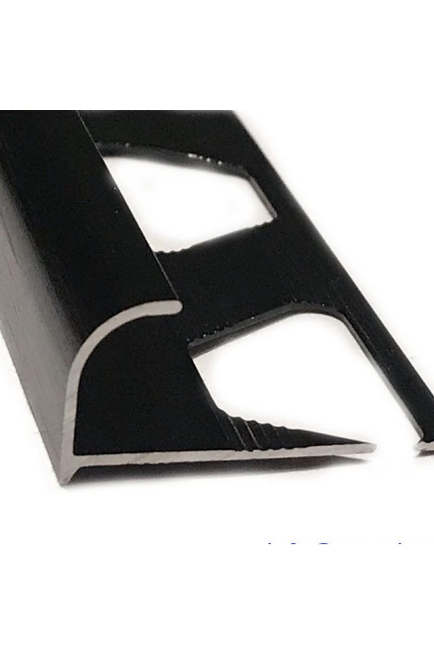 Алюминиевый Профиль(раскладка) для плитки 8,5-9,5мм Черный Глянец ПО10