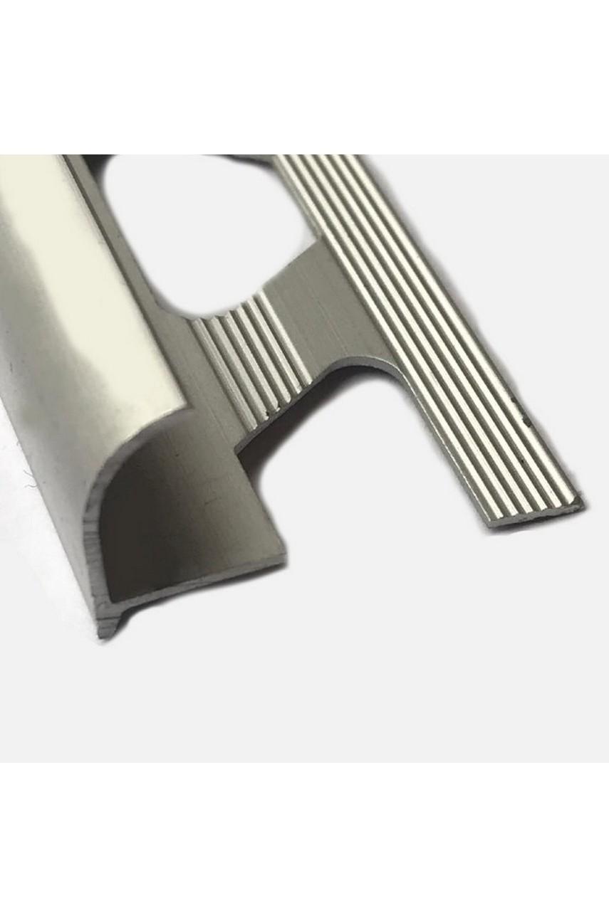 Алюминиевый Профиль(раскладка) для плитки 10-11,5 мм Серебро Матовый ПО12