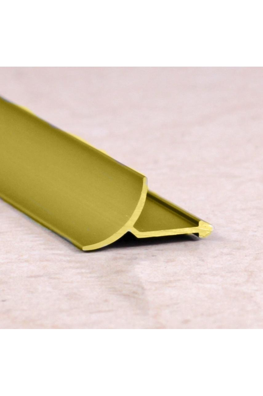 Алюминиевая универсальная раскладка для плитки внутренняя Золото Глянец ПО В9