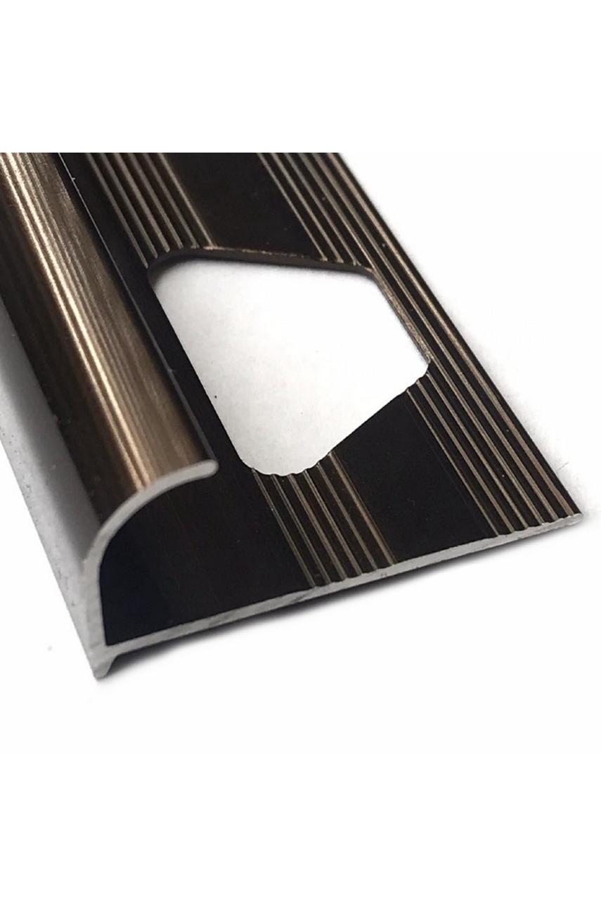 Алюминиевый Профиль(раскладка) для плитки 10-11,5мм Бронза Глянец ПО12