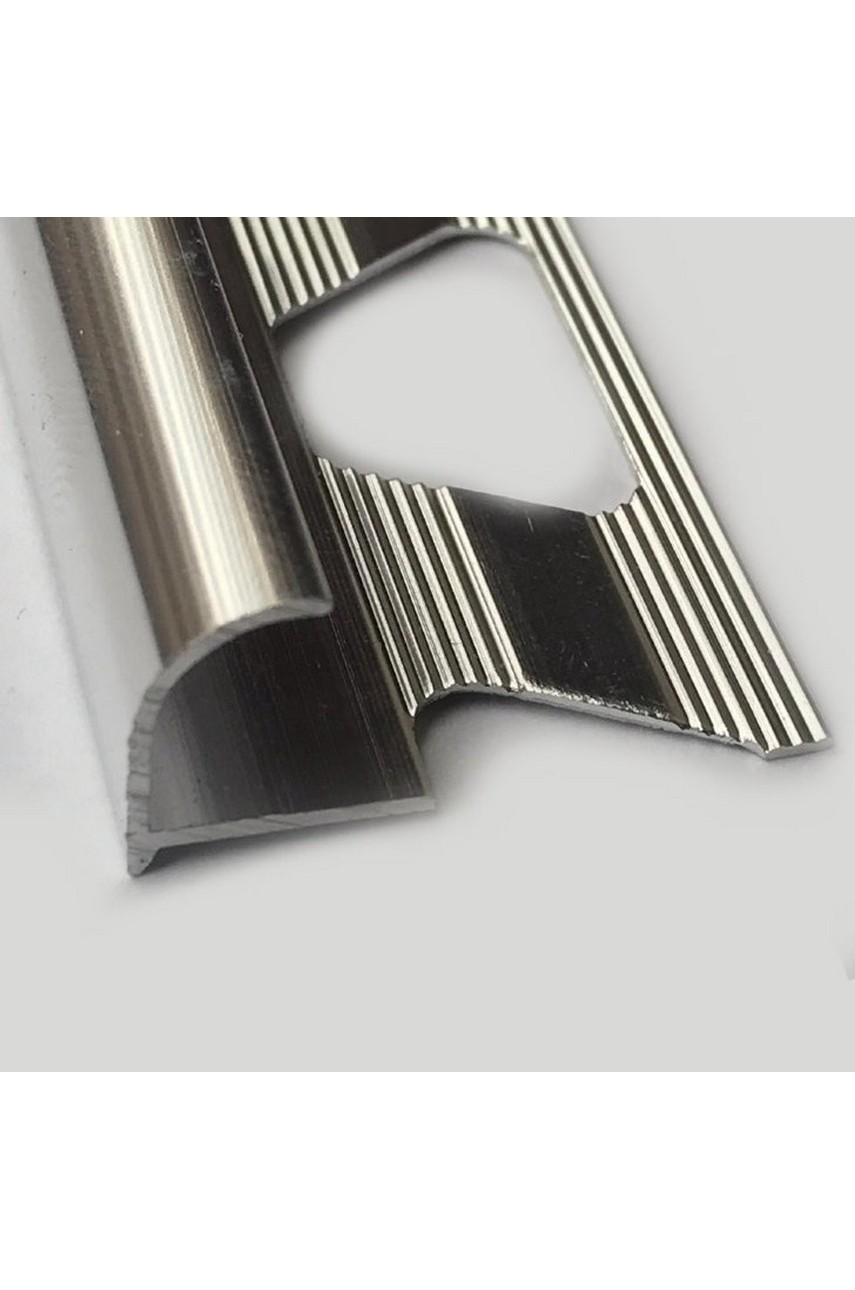 Алюминиевый Профиль(раскладка) для плитки 10-11,5мм Серебро Глянец ПО12