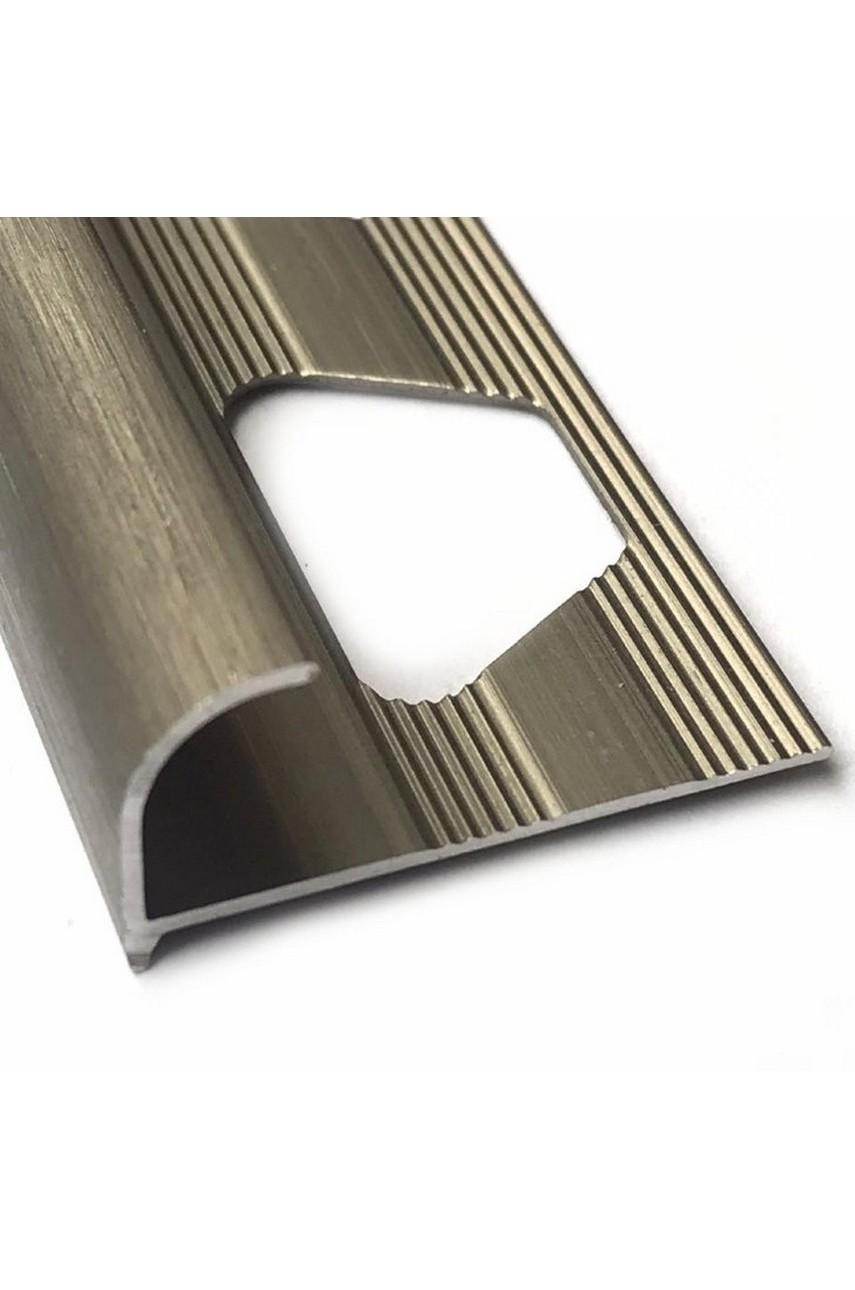 Алюминиевый Профиль(раскладка) для плитки 11,12мм Бронза Матовый ПО13