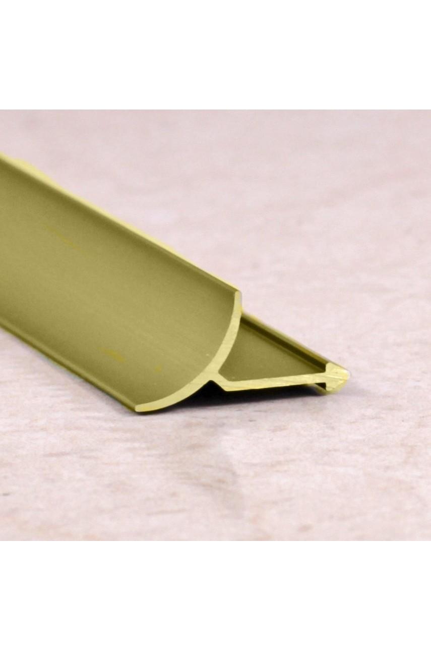 Алюминиевая универсальная раскладка для плитки внутренняя Золото Матовый ПО В9