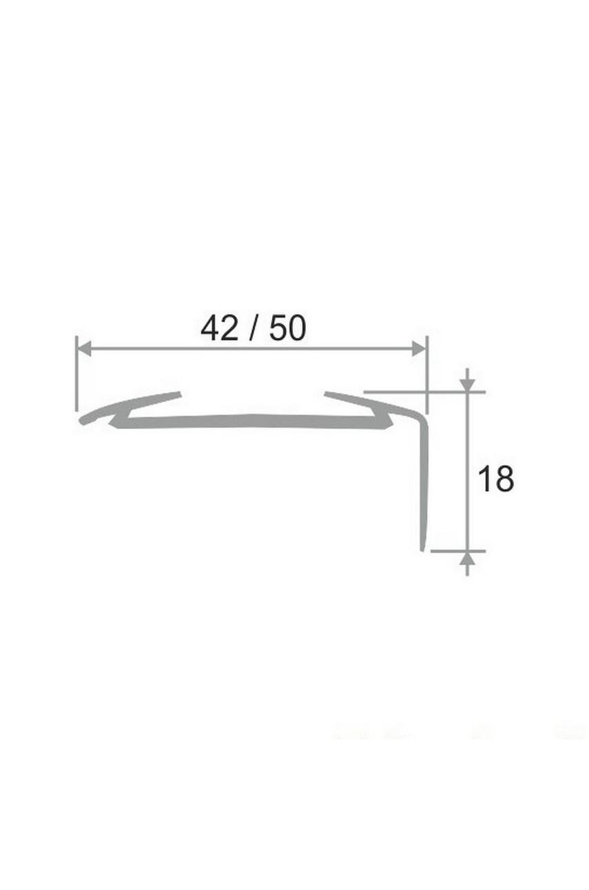 Алюминиевый угловой порог АУ 42