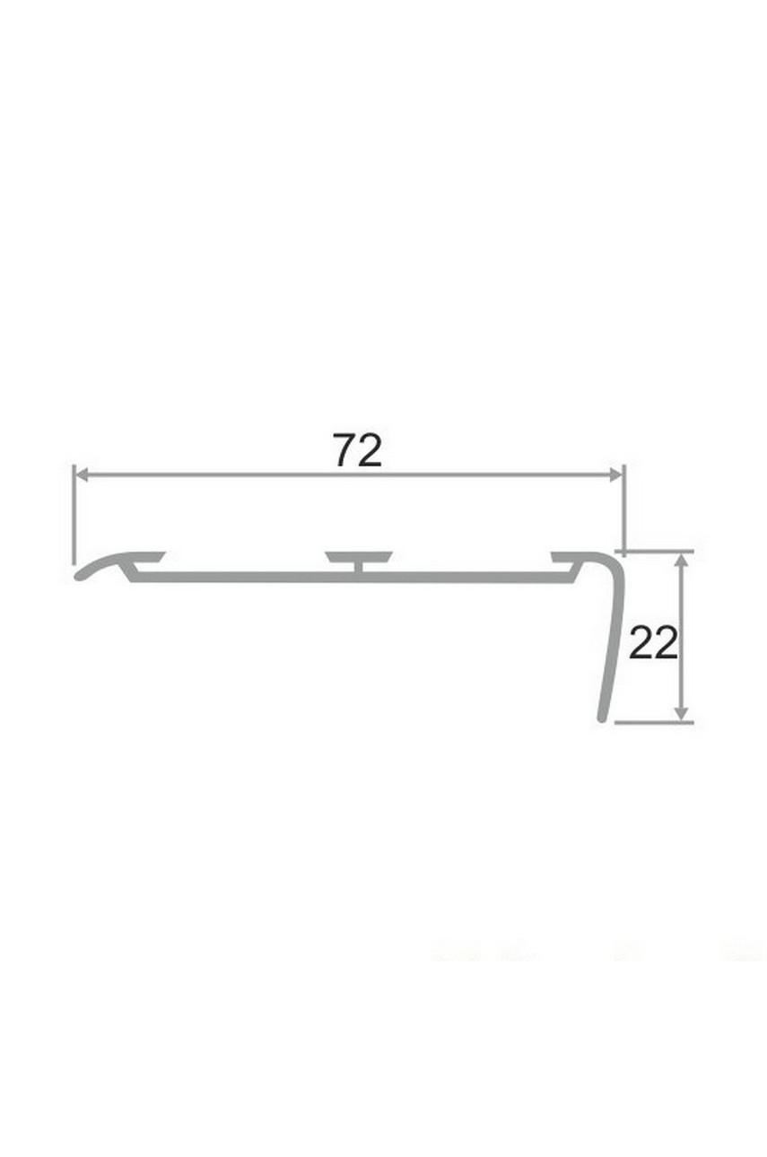 Алюминиевый угловой порог АУ 72