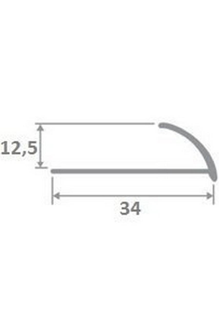 Латунный полированный профиль 12мм ЛПО-12 для плитки