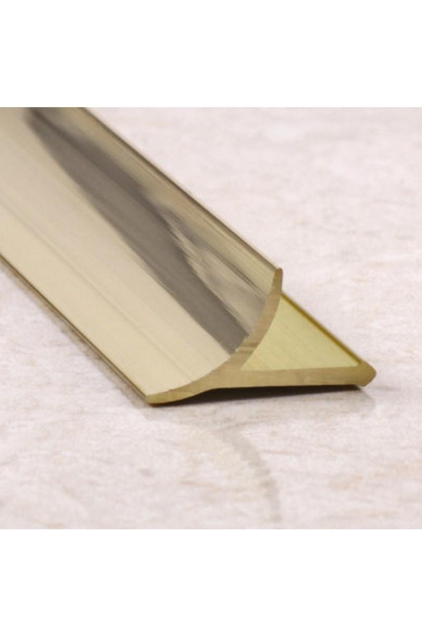 Латунный полированный профиль раскладка для керамической плитки внутренняя ЛПО-В9