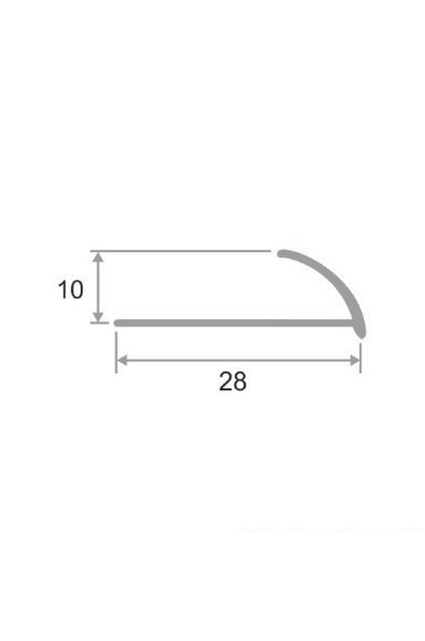 Латунный профиль раскладка для керамической плитки Антик Бронза, под старину 9мм ЛПО-9