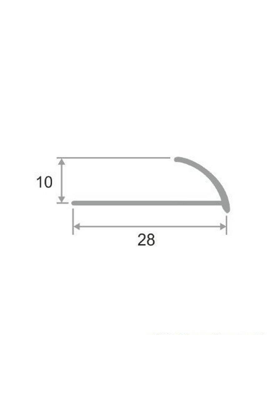 Латунный профиль раскладка для керамической плитки Антик Бронза, под старину 12мм ЛПО-12мм