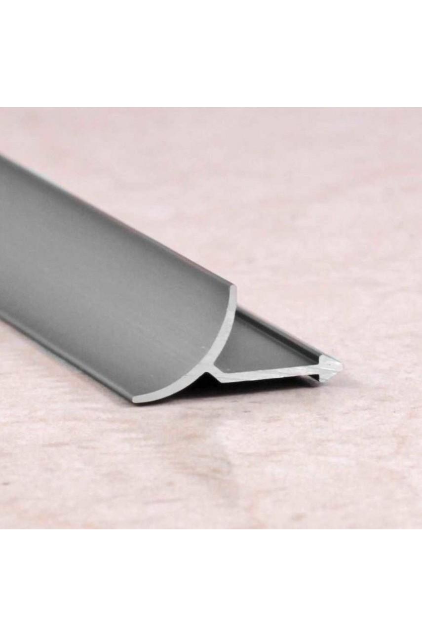 Алюминиевая универсальная раскладка для плитки внутренняя Серебро Матовый ПО В9