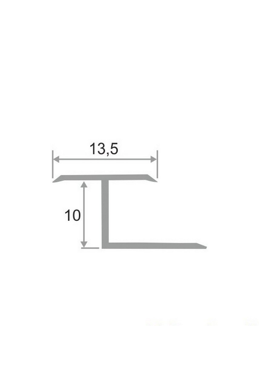 Латунный Z-образный профиль полированный 16мм ЛПЗ-10