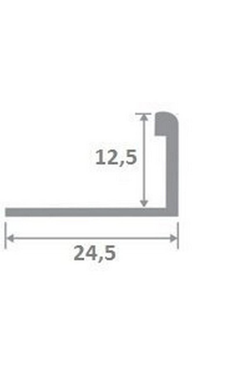 Латунный Г-образный профиль раскладка полированный ЛПО-Г12 12мм