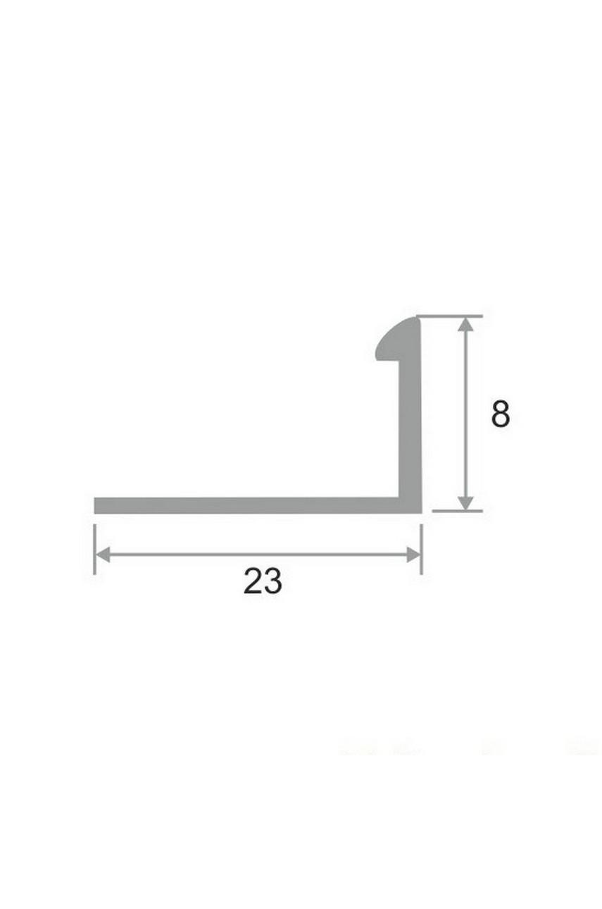 Латунный Г-образный профиль раскладка Антик Бронза, под старину ЛПО-Г8 8мм
