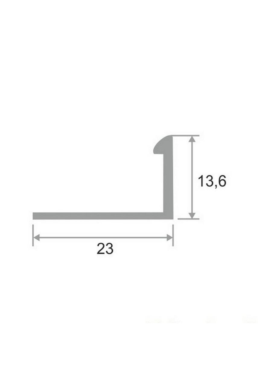 Латунный Г-образный профиль раскладка хромированная ЛПО-Г12 12мм