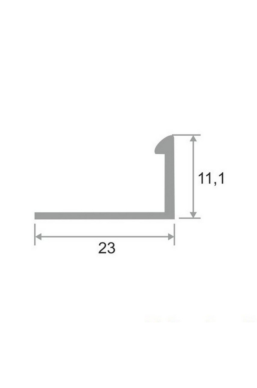 Латунный Г-образный профиль раскладка хромированная ЛПО-Г10 10мм