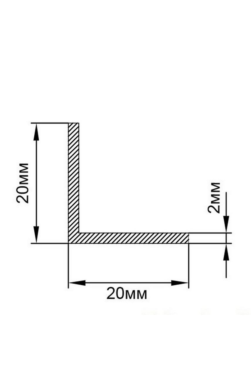 Латунный уголок Антик Бронза, под старину 20Х20 ЛПО-20/20 2,7м
