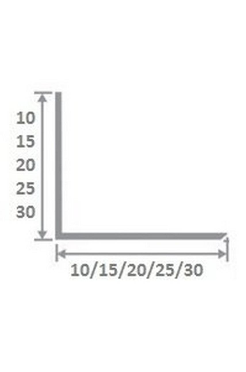 Латунный уголок полированный 20Х20 ЛПО-20/20 2,7м
